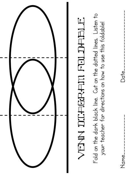 venn diagram foldable printable foldable venn diagram pdf holidays pinterest