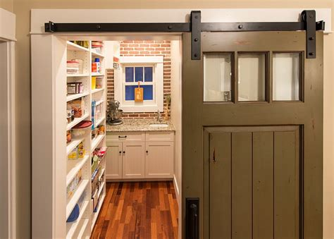 turn that door into a sliding barn style door for the