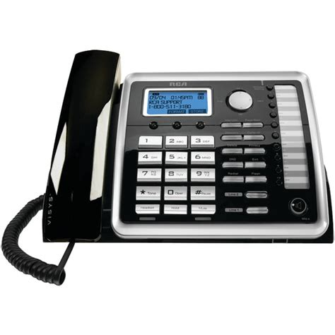 Desk Phone by Rca 25260 2 Line Corded Expandable Desk Phone