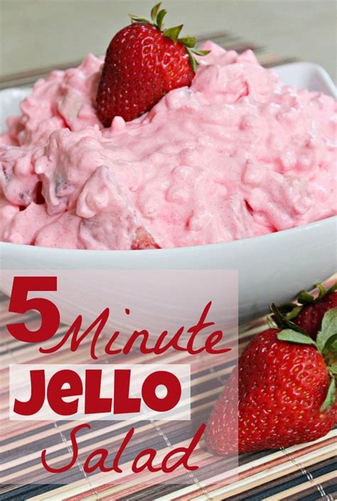 5 Minute Jello Salad Recipe The Cottage Mixing Bowls Recipe With Cottage Cheese And Jello