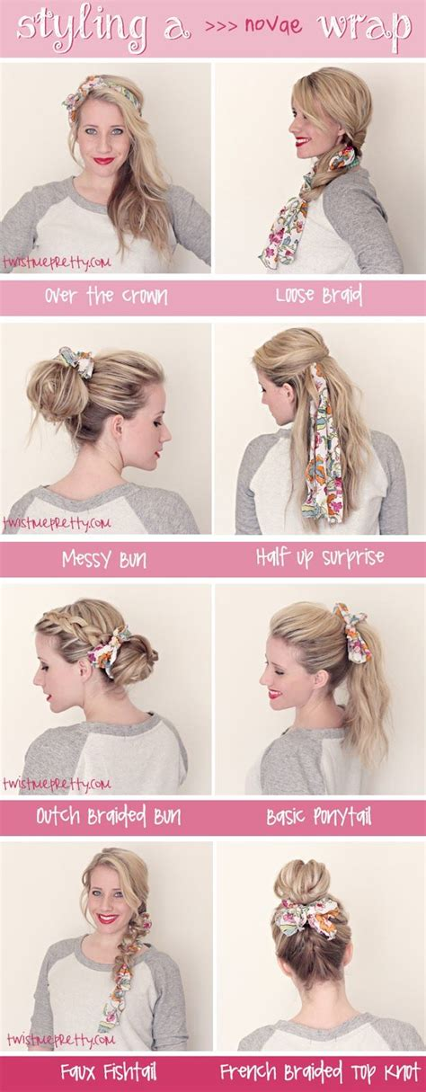 hairstyles w one hair tie how to wear a scarf in your hair ideas and hacks