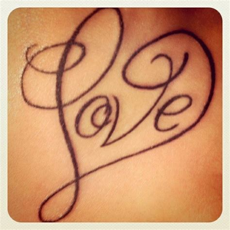 heart love tattoo designs letter design tattooshunt