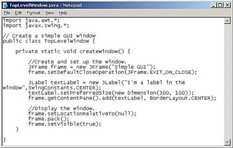 how to create a frame in java using swings using jframe to create a simple window
