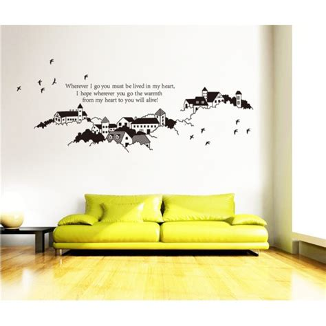 size wall stickers buildings wall sticker 165x65cm size jm7215