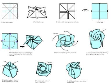 How To Make Easy Paper Roses Step By Step - origami steps to make a like origami