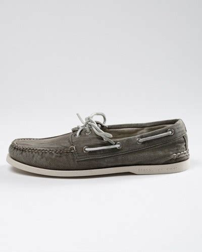 boat canvas detroit sperry washed canvas boat shoe por homme contemporary