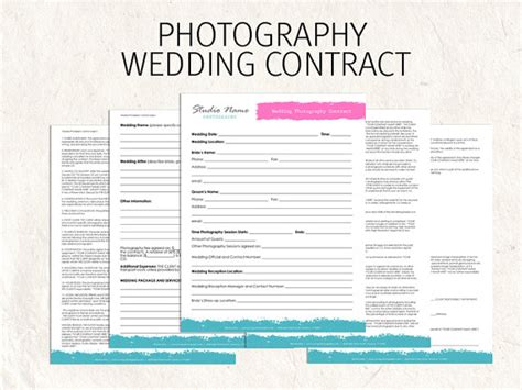 template sample wedding photography contract template agreement