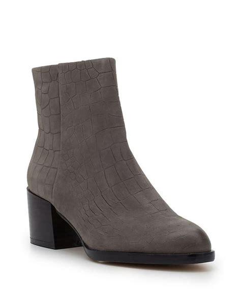 Heel Boot Joey sam edelman joey suede ankle boots in gray grey