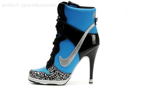 high heel sneakers for sale fashion wmns nike dunk high heels shoes ankle boots blue