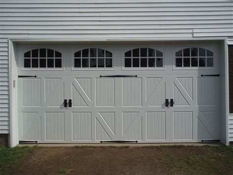 Overhead Door Buffalo Ny Garaga Door Haas Model 2560 Garage Door In Sandstone With Handles U0026 Carriage House 6 Pane