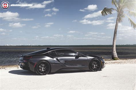 bmw i8 tire size blacked out bmw i8 with hre wheels by wheels boutique