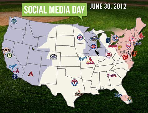 mlb map social media map mlb