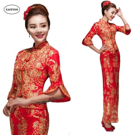 Dress Of The Day Golden Lace Qi Pao by Buy Wholesale Dress From China