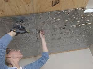 use steel nails to attach tiles to ceiling