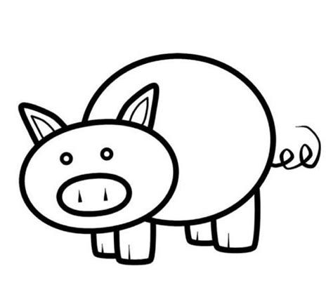 pig template for preschoolers stencil for pig paper bag puppet reading use the printable