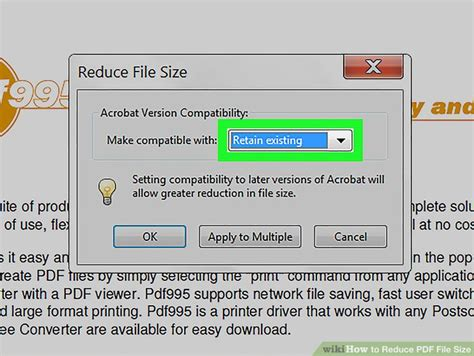 reduce size pdf ghostscript 3 ways to reduce pdf file size wikihow