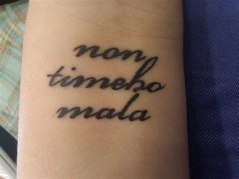 fear no evil tattoo non timebo mala this comes from supernatural