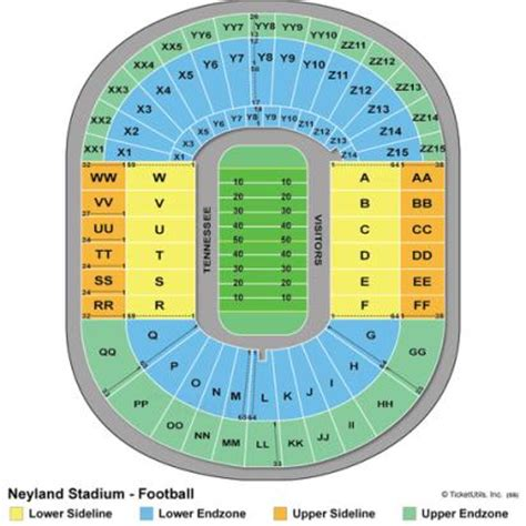 neyland stadium map neyland stadium seating chart neyland stadium tickets neyland stadium tennessee tickets