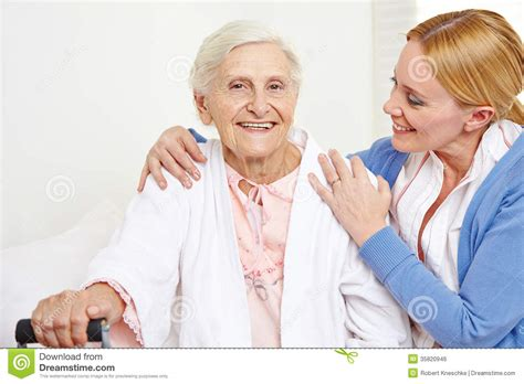 Handicapped House Plans senior woman getting geriatric care stock photo image