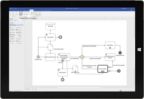 business process visio template diagram software process modeling microsoft visio