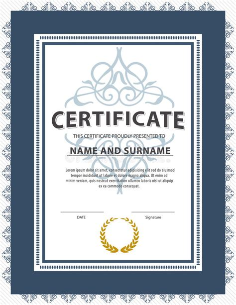 certificate template size 28 images certificate