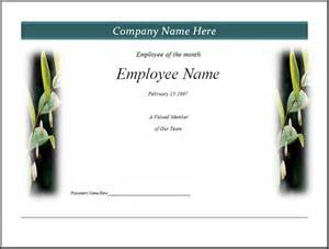 Employee Of The Month Certificate Template Free by Free Employee Recognition Clip Studio Design