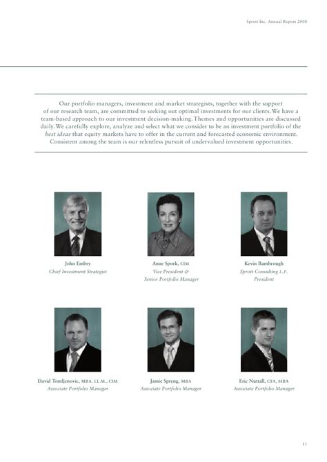 Sprott Mba Fees by Sprott Inc 2008 Annual Report