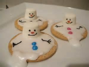 Melted snowman biscuits school ideas pinterest