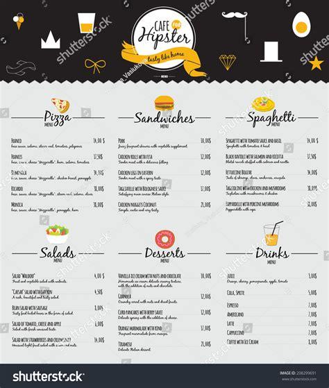 menu design elements big set restaurant cafe menu design stock vector 208299691