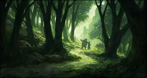 werewolf cave tutorial leaving the forest by andreasrocha on deviantart