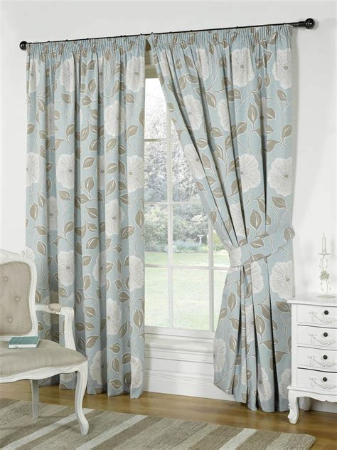 Duck Egg Blue Dining Room Curtains Poppy Lined Curtains Duckegg Blue Free Uk Delivery