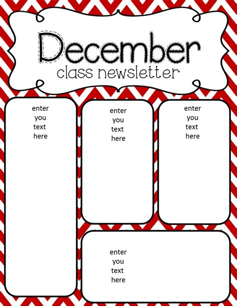 free pre k newsletter templates simply delightful in 2nd grade december newsletter freebie