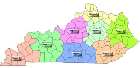 Blank Map Of Kentucky Regions Pictures To Pin On