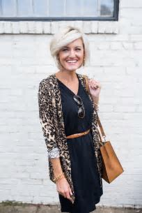 Leopard Print Cardigan   Loverly Grey
