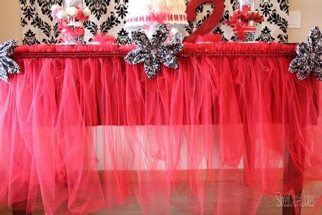 Easy Diy Tulle Table Skirt by Diy From A Catch My Member How To Make A Tulle