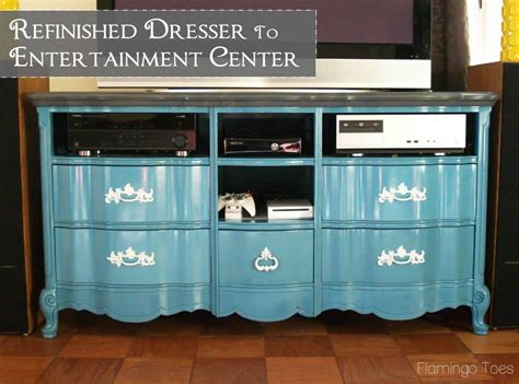 How To Turn Dresser Into Entertainment Center by Repurposed Dresser To Entertainment Center