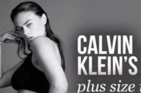 Calvin Klein S Plus Size Model Sparks Controversy - catherine tyldesley blasts so called plus size model