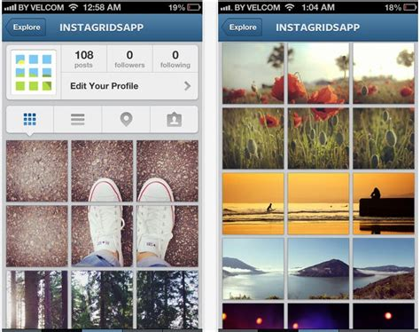 instagram pattern ideas instagrids makes your instagram profile unique