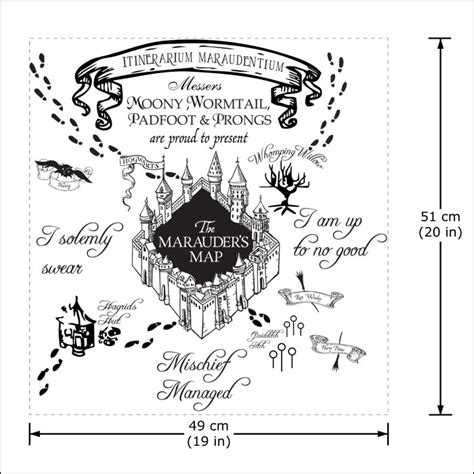 Hairstyle Tools Designs For Silhouette Harry by The Marauder S Map Harry Potter V1 Vinyl Wall Decal