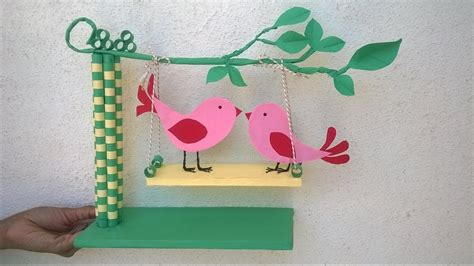 How To Make Showpiece With Paper - paper quilling showpiece diy paper showpiece for room