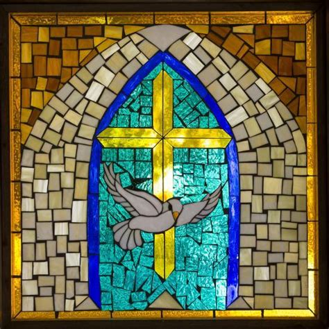 stained glass cross l stained glass cross v photographic print by kathy mahan at