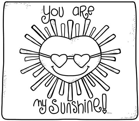 coloring page sunshine you are my sunshine my only sunshine coloring pages