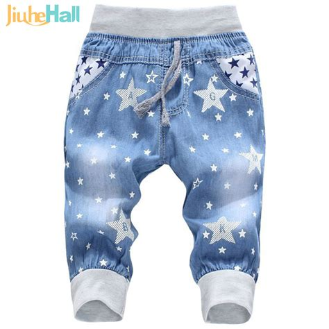 hot pattern jeans hot sale 2016 new kids jeans elastic waist straight bear