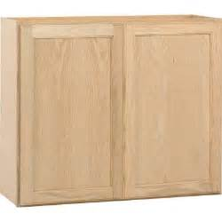 Unfinished Kitchen Wall Cabinets 36x30x12 In Wall Cabinet In Unfinished Oak W3630ohd The