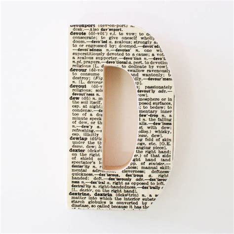Letter Dictionary dictionary decorative wooden letter gift for him by bombus