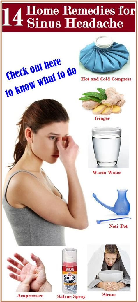home remedies for sinus headache remedies