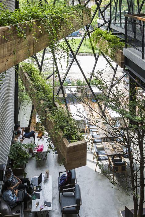 steel framed cafe  hanging garden  vietnam