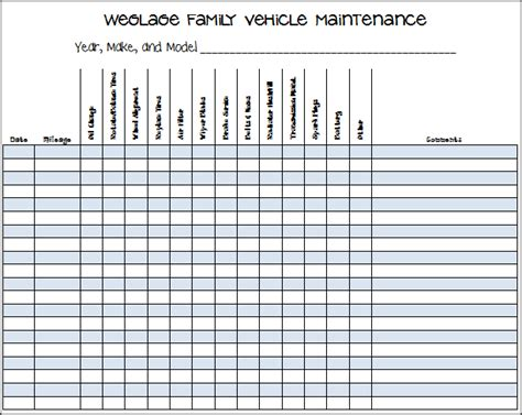 keep track of your vehicles maintenance and repairs with this