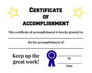 certificate of accomplishment template free free certificate of accomplishment printable everyone