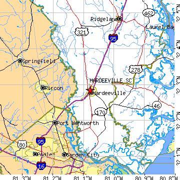 Garden City Ga Zip Code by Hardeeville South Carolina Sc Population Data Races